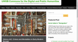 Commons for the Digital and Public Humanities (University of Wisconsin at Green Bay)