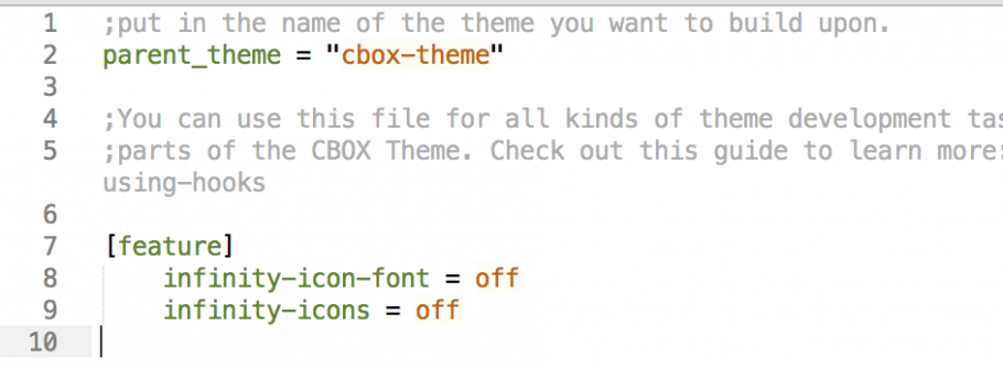 CBOX - Disable icon fonts