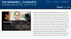 Bernard L. Schwartz Communication Institute – Baruch College