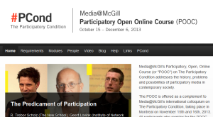 Media@McGill's Participatory Open Online Course