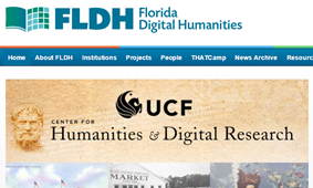 screenshot of Florida Digital Humanities homepage