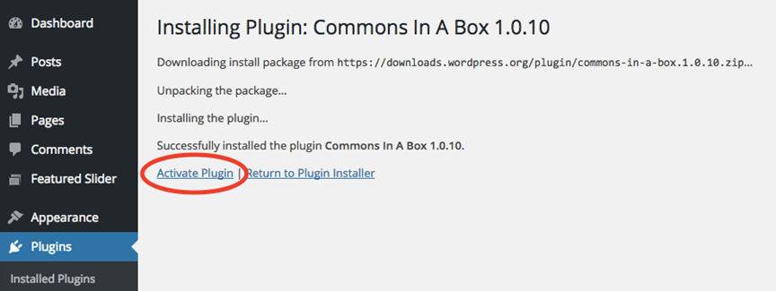cbox install - step 3
