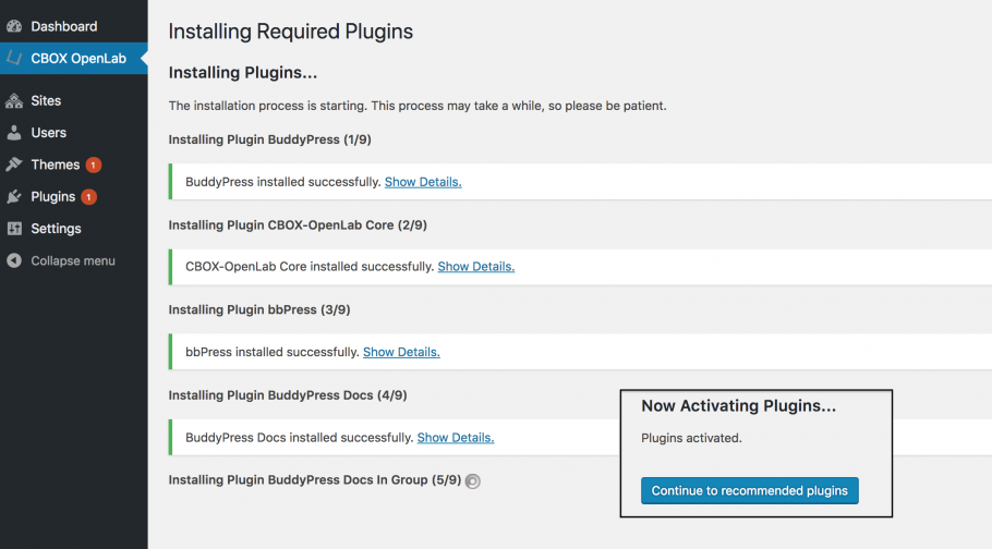 Installing Required Plugins
