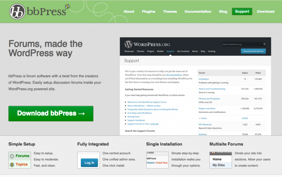 Download bbPress screenshot