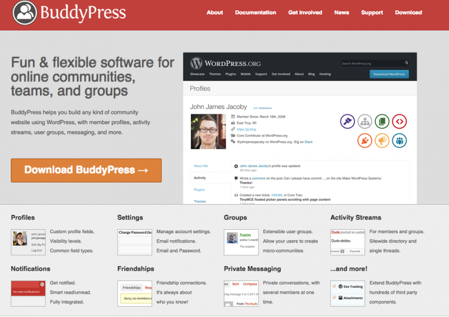 Download BuddyPress screenshot